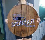 Personalized 1920s Decor Personalized Prohibition Wood Bar Sign Rustic Wall Art