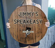 Speakeasy Door Personalized Prohibition Decor From Aged Whiskey Barrel Wall Art