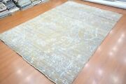 10and039 X 14and039 Rug | Hand Knotted Hand-made Zero Pile Wool Gray-brown Area Rug