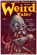 Pulp Poster Weird Tales March 1950 Vintage Fantasy Sci Fi Book Cover Art Poster