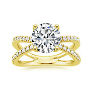 0.73 Ct Round Cut Real Diamond Christmas Size 6 7 8 9 14k Yellow Gold Ring
