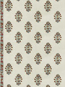 Clarence House Boteh Floral Paisley Embroidered Linen Multipurpose Fabric 10yard