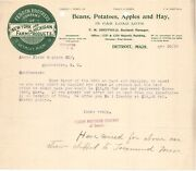 1896 Ferrin Brothers Co Farm Products Beans Apples Hay Detroit Mi Ny Annis Nh