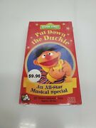Vhs Sesame Street - Put Down The Duckie Vhs, 1996 Sealed