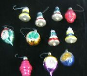 Vintage Christmas Glass Ornaments Shiny Brite 11 In Total U-12