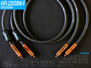 A Pair 1m Germany Yarbo Hifi-1203bw-f Pure Silver Wire Teflon Rca Signal Cable