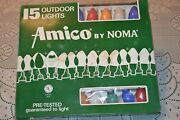 Vintage Christmas C9 Outdoor Light Set Amico By Noma 15 Bulbs 3