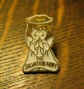 The Salvation Army Angel Vintage Lapel Pin - Christian Community Charity Badge
