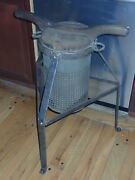 Rare Dh And M Co Lard / Fruit Press Duparquet Tin Wrought Iron And Wood No Copper