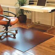 55x57 Office Chair Mat Bamboo Carpet Or Hard Floor Protector Office Chair Glide