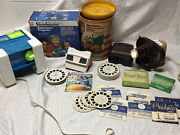 Vintage Viewmaster Lighted Bakelite Sawyers And Gaf Projector In Box Lot
