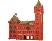 Ceramic Tealight Holder Collectible Miniature Town Hall In Basel 39 Cm Andcopy Midene