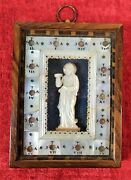 Reliquary Of Via Crucis. Relief Of Maria Magdalena. Mother Of Pearl. Europe. Xix