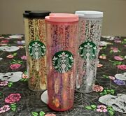 Lot Of 3 Starbucks Holiday 2020 16oz Pink Bubble Hot Cups Tumbler Gold Platinum