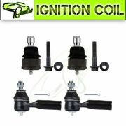 4 Sets For 2001-2007 Ford Escape Front Lower Ball Joint Outer Tie Rod End Kit
