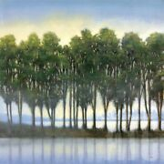 36wx36h Trees In A Row By Albert Williams - Tall Slim Green Choices Of Canvas