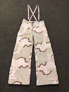 Military Camo Chemical Protective Nfr Overgarment Pants Medium Long Suspender