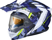 Scorpion Exo-at950 Outrigger Snow Helmet W/ Electric Shield Matte Blue 3xlarge