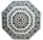 42 Inches Abalone Shell Stone Work Patio Table Top Marble Dining Table For Home