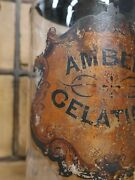 Large Rare Pair Painted Victorian Glass Apothecary Jars Bottles Antique Vintage