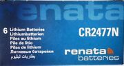 36 6 Boxes Of 6secure Cards Renata Cr2477n Lithium 3v Batteries Exp 08/2027