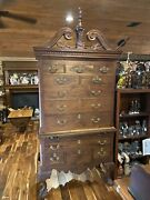 Antique Chippendale Style Highboy Dresser