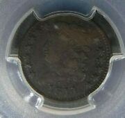 1811 Pcgs F12 Cac Classic Head Half Cent United States 1/2 Penny Liberty Bust