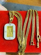 18k Fine 750 Japan Gold Womenandrsquos Liberty Necklace With 18andrdquo Long 3.2mm 18.3g