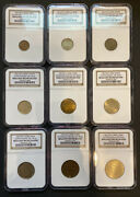 Extremely Rare Russian Pattern Set 1961 Soviet Russia Ussr Complete 9 Pcs Ngc