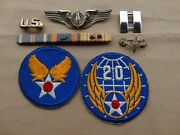 Ww2 Air Corps 3 Sterling Wings Plus Luxenberg Pin.