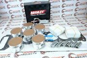 Cp 100.50 Mm Piston And Manley H-beam Rods And Cometic Gasket For Toyota 1fz-fe