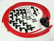 Red Vms Racing Universal 90 Degree Spark Plug Wires 10.2mm Set For Chevy 350 Hei
