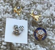Benevolent And Protective Order Of Elks Bpoe 4 Great Stocking Stuffer Lapel Pins