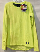 Under Armour Girls Coldgear Infrared Crew Base Top Bright Yellow M Nwt 39.99