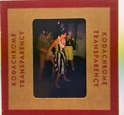 1950's Kodachrome Red Border Color Slide Costume Party Halloween Crotch Grab