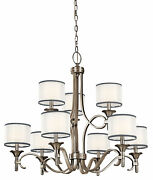 Kichler 42382ap, Lacey Candle Chandelier Lighting With Shades, 9 Light, 540