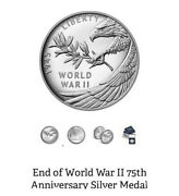 End Of World War Ii 75th Anniversary Silver Medal -- Ready To Ship