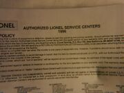 Lionel - Approved Service Stations 1996