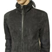 Bnwt Paul And Shark Mens Pure Lambs Leather Cafe Racer Jacket Biker Bomber Uk Xl