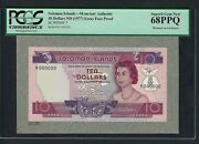 Solomon Islands 10 Dollars Nd 1977 P7 Essay Face Proof Uncirculated