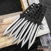 12pc Fixed Blade Knife Set Ninja Survival Hunting Knives With Black Storage Case