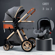 1 [usa Fast Shipping] New Luxury Stroller 3 In 1 Travel System + Gifts