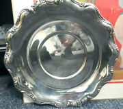 Reed And Barton Tara 824 Sterling Silver Round Tray Underplate 10.5 Floral Edge