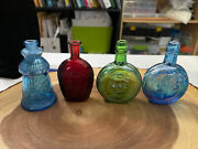 4 Wheaton Bottles/bitters Collectible Glass Bottles Lighthouse Presidents