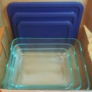 6 Piece Pyrex Cooking Solved Lidded Casseroles 3 Cups 6 Cups 11 Cups