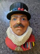 3 Chalkware Heads Dr Watson Robin Hood The Beefeater Bossons Legend Products
