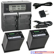 Kastar Fully Decode Battery Dual Lcd Charger For Canon Eos C300 Mark Iii Cinema