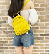 Erin Small Convertible Backpack Citrus Studded Leather Fannyback