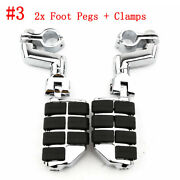 1 Inch Highway Foot Pegs Rest Clamps For Honda Gold Wing Gl1800 1500 1100 1200