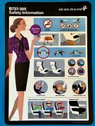 Air New Zealand Safety Card-- 737-300